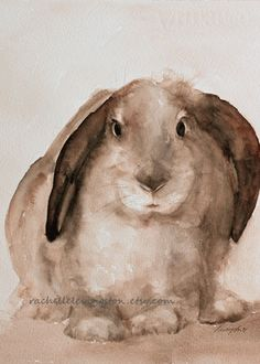 Items similar to easter bunny painting rabbit PRINT easter Print Bunny PRINT bunny art print Bunny Nursery art print baby girl wall decor brown white on Etsy Animals Watercolor, Watercolor Paintings, Painting Canvas, Watercolor Print, Large Painting, Nursery Paintings, Animal Paintings, Nursery Art, Girl Nursery