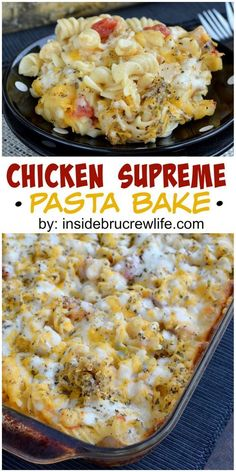 This is an easy and very cheesy chicken and pasta dinner that everyone will love.