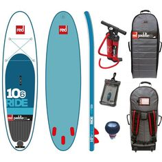 """OPEN BOX $1139 Red Paddle Co RIDE 10'6""""x32"""" Inflatable Stand Up Paddle Board 2016"""