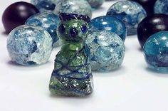 9-11th century Birka, Sweden. Glass game piece from grave 750.