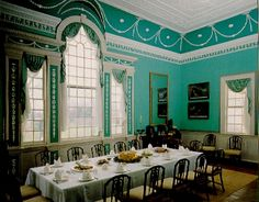ya george washington just proved that turquoise is timeless. his dining room in mount vernon Dc Monuments, Historical Architecture, Historical Landmarks, Historical Sites, Mount Vernon, George Washington, Washington Dc, Historic Homes, Interior Design
