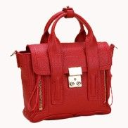Goldie Mini Leather Bag Red