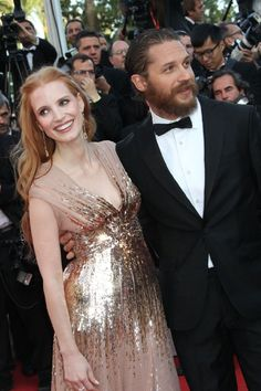 Tom Hardy and Jessica Chastain<3
