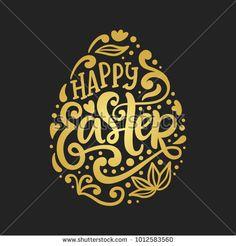 Modern Easter Card  Happy Easter Greeting Card  Easter Egg