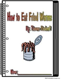 how to eat fried worms literature unit