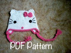 ~ Crochet Buffet ~  Hello Kitty Crochet Pattern available in SwellAmy's Etsy shop