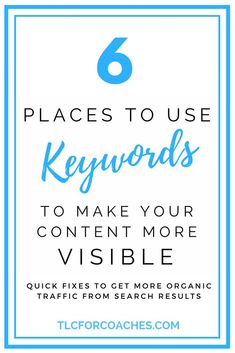 Quick fixes to get more organic traffic from search results. #blogging #contentmarketing #seo via @tlcforcoaches
