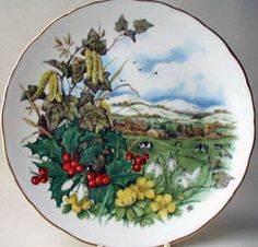Royal Albert - As Seasons Unfold - Collector Plates www.royalalbertpatterns.com -- Crisp and Cold the Earth Sleeps Soundly