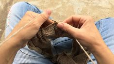 Portuguese knitting - The Purl stitch