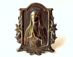 French Vintage Small Religious Virgin Mary by FrenchReligiousFinds, $35.00