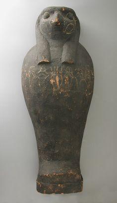 Ptah - Sokar - Osiris Funerary Figure with Coffin. 22nd-26th Dynasty, 931-333B.C.