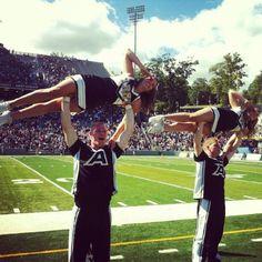 "Cheerleading (""pretty girl"" stunt) for Army"