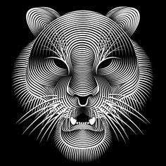 Patrick Seymour - Géométrie - Tigre - Directeur artistique et illustrateur, le québécois explore le monde merveilleux des lignes et des courbes.