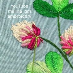 Hand Embroidery Patterns Flowers, Basic Embroidery Stitches, Hand Embroidery Videos, Embroidery Stitches Tutorial, Hand Embroidery Flowers, Creative Embroidery, Sewing Stitches, Embroidery Techniques, Crewel Embroidery