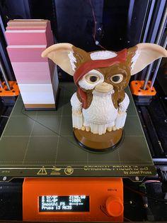 Multi Material Gizmo the Gremlin printed on Original Prusa i3 MK3S by cjbeck #prusai3 #mmu2 #toysandgames