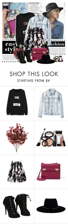 """beautifulhalo 10"" by cano315 on Polyvore featuring moda, RVCA, Laura Geller, Salvatore Ferragamo, Giuseppe Zanotti y Zimmermann"