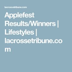 2008 Applefest Results/Winners  | Lifestyles | lacrossetribune.com