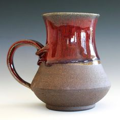 Large Coffee Mug Holds 20 oz handmade ceramic cup by ocpottery