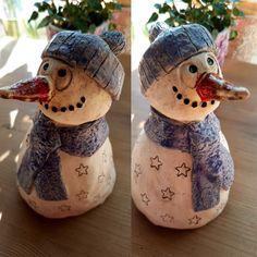 Schneemann #keramik #töpfern #Schneemann