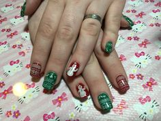 Gelish with stamps sweater print