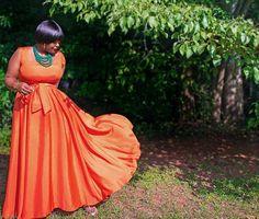 JIBRI Plus Size Sleeveless Flare Maxi Dress by jibrionline on Etsy, $210.00