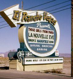 El Rancho Las Vegas vintage neon sign.  Wonder where this sign is now?