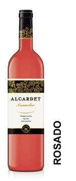 Vino de la mancha Alcardet Sommelier rosado tempranillo, syrah y garnacha. DO La Mancha. Alcardet Sommelier