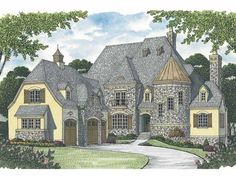 European House Plan with 7428 Square Feet and 4 Bedrooms(s) from Dream Home Source | House Plan Code DHSW65680