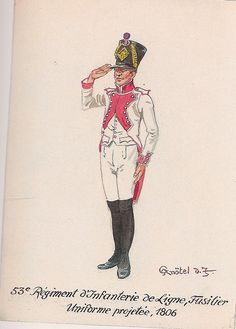 French; 53rd Line Infantry, Fusilier in proposed white uniform, 1806