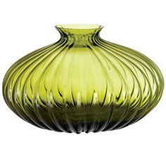 olive #green #glass vase
