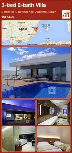 3-bed 2-bath Villa in Benitatxell, Benitachell, Alicante, Spain ►€667,500 #PropertyForSaleInSpain