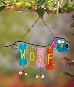 Woof or Meow Glass Wind Chimes | ABC Distributing