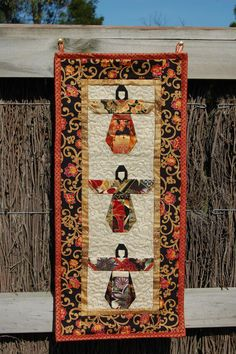 Geisha Wall Hanging Asian Quilt on Etsy, $42.00