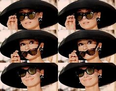Audrey Hepburn Those sunglasses <3