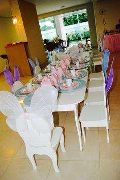 Mesa chá de princesas