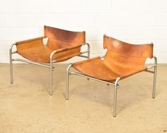 Cognac saddle leather Model 250 lounge chair by Walter Antonis, 1960s