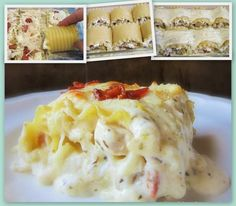 Chicken Bacon Lasagna Rolls (are you kidding me right now??)