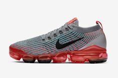 Nike Air VaporMax 3.0 Flashes Past in Crimson Nike Air Vapormax, Nike Trainers, Air Max Sneakers, Sneakers Nike, Cleats, Nike Tennis, Football Boots, Nike Shoe, Nike Basketball Shoes