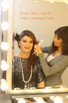 Having some help with my hair Womanless Beauty Pageant, Female Transformation, Beautiful Couple, Tgirls, Dress Me Up, Crossdressers, Pretty Boys, Feminism, My Hair