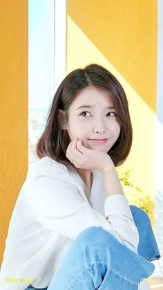 Fresh Iu Short Hair - New Hairstyles Styles 2019 Iu Fashion, Korean Fashion, Pixie Styles, Short Hair Styles, Kpop Girl Groups, Kpop Girls, Iu Short Hair, Korean Girl, Asian Girl