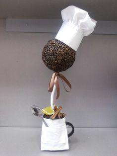 Фотографии Как сделать топиарий. Подарки ручной работы Coffee Bean Art, Coffee Beans, Bed Spring Crafts, Styrofoam Crafts, Teacup Crafts, Diy And Crafts, Arts And Crafts, Coffee Crafts, Ideas Party