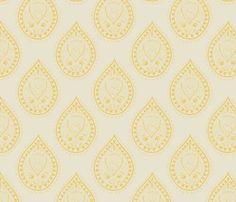 Mumbai_in_marigold spoon flower fabric
