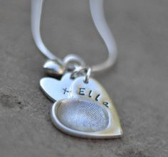 personalised fingerprint charm necklace by button and bean | notonthehighstreet.com