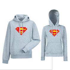 8efe6330fe11 Komplet mikiny s kapucňou pre páry SuperMan (HDS-CP-153G) Superman