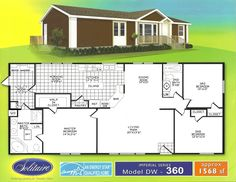 Double Wide Floorplans | Double Wide Manufactured Home Floorplans | Solitaire Homes