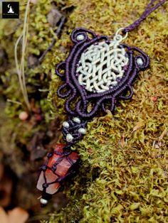 Pagan Macrame Necklace Celtic Knot Macrame by TheTomentosaShop