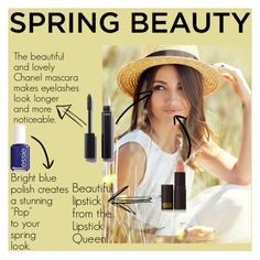 """""""Spring beauty"""" by facooper ❤ liked on Polyvore featuring beauty, Chanel, Lipstick Queen and Essie"""