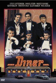 Diner - Mickey Rourke, Steve Guttenberg, Kevin Bacon, Paul Reiser. Paved the way for Seinfeld, Curb Your Enthusiasm, and so much more.