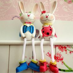 rabbit doll hanging feet couple wedding gift creative new home furnishings ornaments Home Decoration $18.50