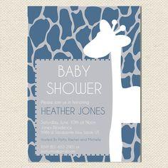 Printable Baby Boy Giraffe Shower Invitation  by BurlapAndBeauty, $13.00